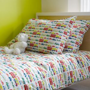 Car And Buses Single Duvet Cover - bedroom