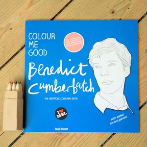 Benedict Cumberbatch Colouring Book By Colour Me Good
