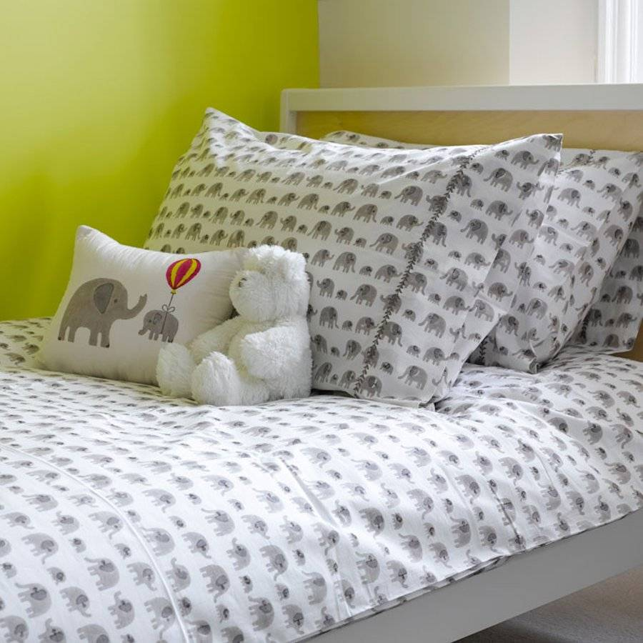 Grey Elephant Single Duvet Cover By Lulu And Nat