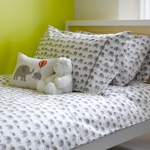 Grey Elephant Single Duvet Cover - bed, bath & table linen