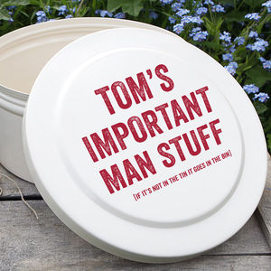 Personalised Man Tin - tins