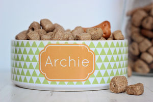 Personalised Triangle Pet Bowl - food, feeding & treats