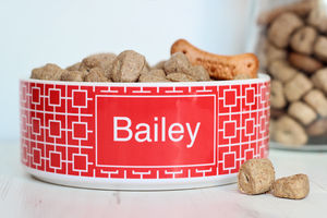 Personalised Pet Bowl Square