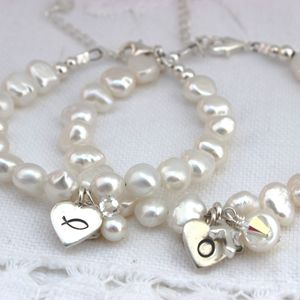 Personalised Pearl Bracelet - children's accessories