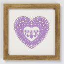 Thumb personalised heart of hearts framed artwork