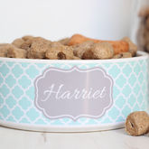 Personalised Pet Bowl Quatrefoil - pets