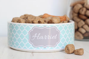 Personalised Pet Bowl Quatrefoil