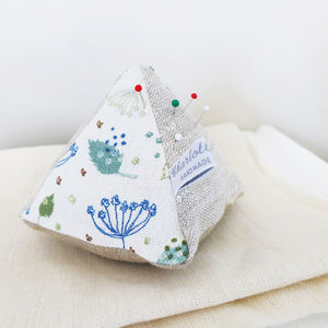 Blue Parsley Linen Pin Cushion - pin cushions