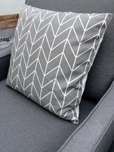 Chevron Cushion Thin Line Two - bedroom