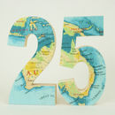 Map Location Wood Wedding Table Numbers