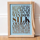 Copper foil and duck egg blue background - Personalised Metallic Foil 'Little Luxuries' Art Print