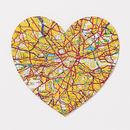 Nine Map Location Hearts Valentine's Print