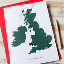Large Personalised UK Map Card