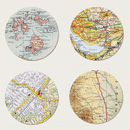 Nine Map Location Circles Print