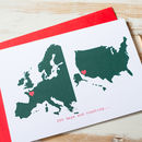 Large Racing Green Personalised Double Map Card