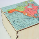 Map Location Cufflink Or Jewellery Keepsake Box