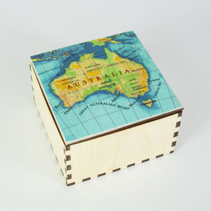 Map Cufflink Box - gifts under £50 for him