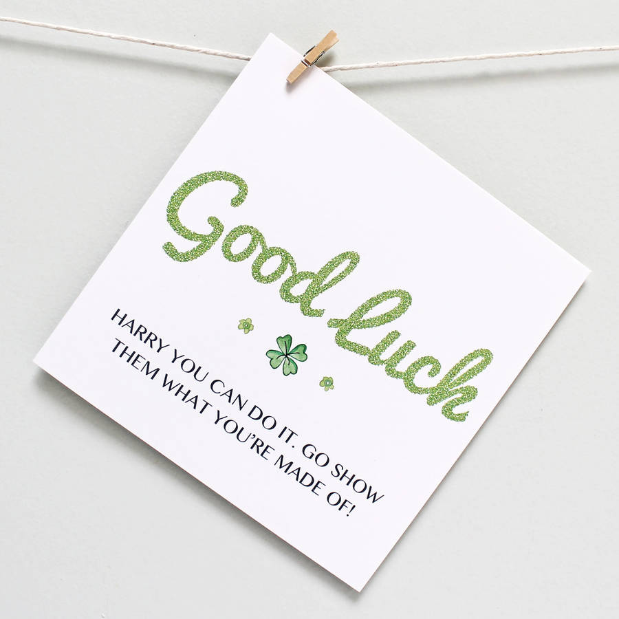 Personalised good luck you can do it card by martha brook personalised good luck you can do it card kristyandbryce Images
