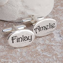 Personalised Silver Name Cufflinks