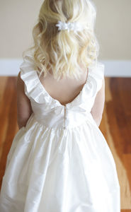 Pure Silk Flower Girl Dress