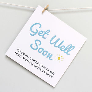 Personalised Get Well Soon 'Big Hugs' Card