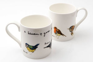 Garden Birds Bone China Bird Mug - easter home