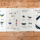 A Selection Of Garden Birds Tea Towel