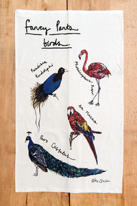 Fancy Pants Birds Tea Towel