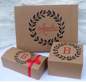 Personalised Monogram Gift Boxes