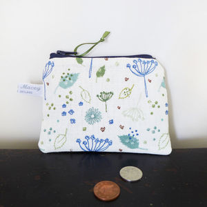 Blue Parsley Zip Purse