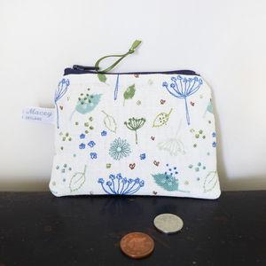 Blue Parsley Zip Purse - purses & wallets