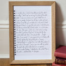 Handwriting font - Small Personalised Stories Art Print
