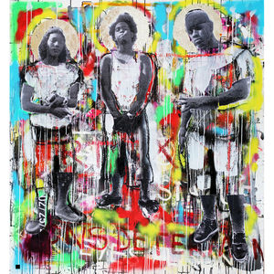 Ions Determine Gold Leaf Limited Edition Print - modern & abstract