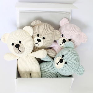 Hand Crafted Baby First Teddy Bear - modern christening gifts