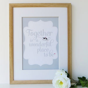 Personalised 'Together' Love Print
