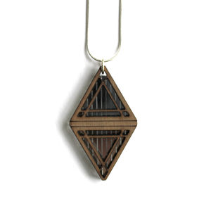 Wooden Akira Necklace