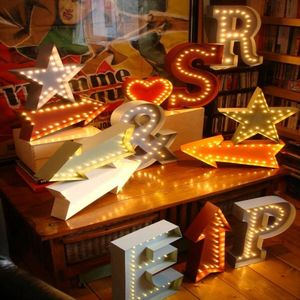 Marquee LED Light Up Letters And Symbols - lights & candles