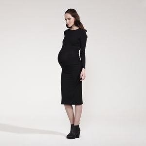 Contessa Back Detailed Trim Maternity Dress - women's fashion