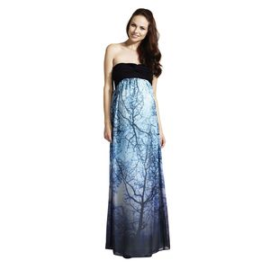 Alice Printed Bandeau Maxi Maternity Dress - maternity