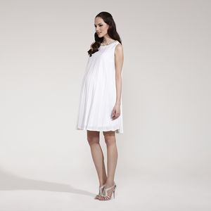 Wendy Sunray Pleated Maternity Dress - women's fashion