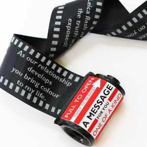 Love Message In A 35mm Film Reel - wedding, engagement & anniversary cards