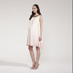 Peony Jewel Trim Maternity Shift Dress
