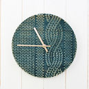 Cable Knit Wooden Clock