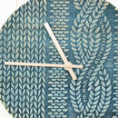 Personalised Cable Knit Wooden Clock