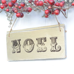Gold Christmas Noel Sign - decorative accessories