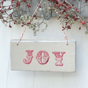 Silver Joy Christmas Sign