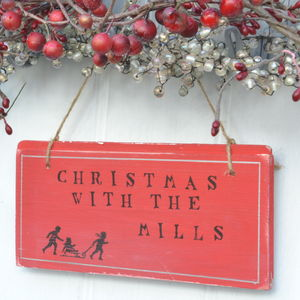 Personalised Nordic Christmas Sign