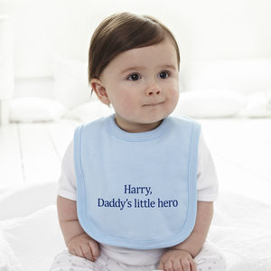 Personalised 'Little Hero' Baby Bib