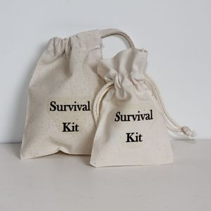 Survival Wedding Favour Bags - ribbon & wrap