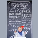 Personalised Chalkboard First Birthday Backdrop